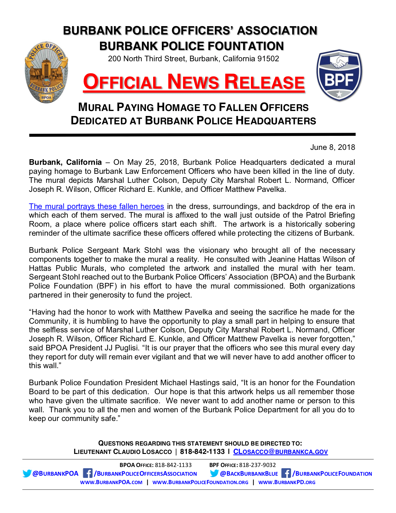 BPOA-BPF-News-Release---Mural-Paying-Homage-to-Fallen-Officers-Dedicated-at-Burbank-Police-Headquarters